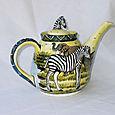 Round Zebra Teapot