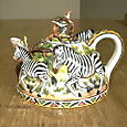Dome Teapot With Zebras