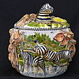 Trinket Box With Zebra Lid